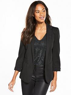 wallis-ribbed-ponte-blazer-black