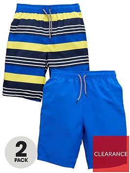 v-by-very-boys-2-pack-of-board-shorts-yellowblue