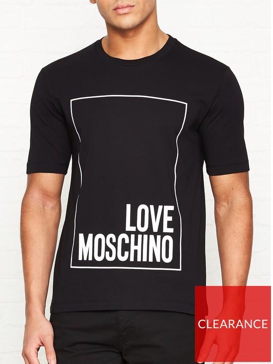 a3f65e8cdeb LOVE MOSCHINO Box Logo T-shirt - Black | very.co.uk