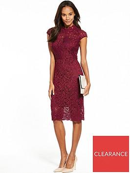 phase-eight-lace-dress-claret