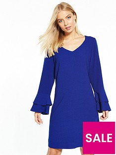 wallis-double-fluted-sleeve-shift-dress
