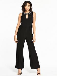 wallis-embellished-collar-jumpsuit