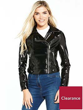 miss-selfridge-vinyl-biker-jacket