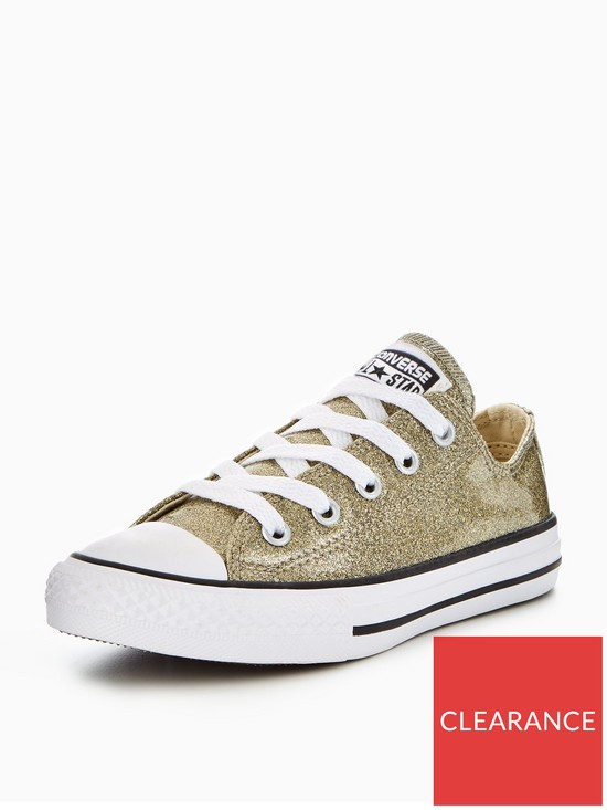 445bc2c7c64 Converse Converse Chuck Taylor All Star Seasonal Glitter Ox Childrens  Trainer