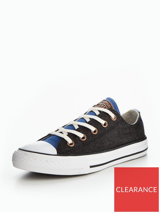 99e495b68787 Converse Converse Chuck Taylor All Star Two Color Chambray Ox Childrens  Trainer