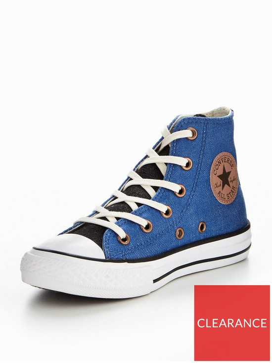 b8429521eb0e Converse Converse Chuck Taylor All Star Two Color Chambray Hi Childrens  Trainer