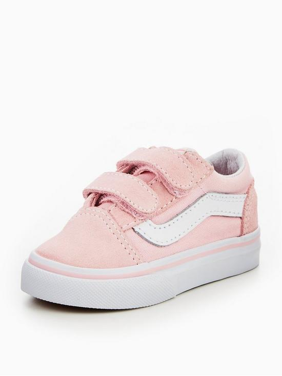 5a17652ff37654 Vans TD Old Skool V Infant Trainer - Pink