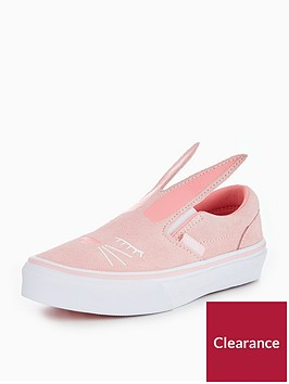 vans-uy-slip-on-bunny-childrens-trainers-pink
