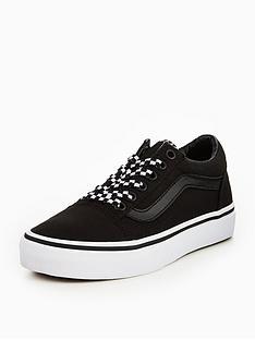 vans-vans-uy-old-skool-elastic-lace-check-lace-childrens-trainer