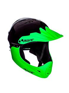 Awe BMX Full Face Helmet Black Green Medium 58-62cm