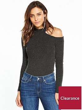 v-by-very-lurex-cut-out-shoulder-top