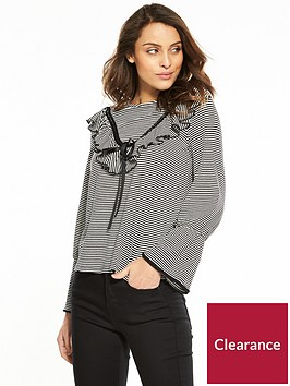 v-by-very-stripe-frill-satin-ribbon-top-multi