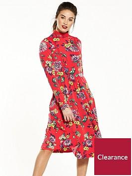 v-by-very-floral-crochet-jersey-midi-dress