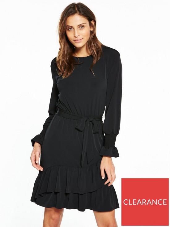 31a2ed3e744f V by Very Wrap Jersey Skater Dress