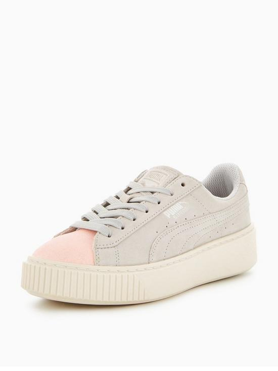 reputable site 0b0d1 c18b2 Suede Platform Glam Junior Trainer