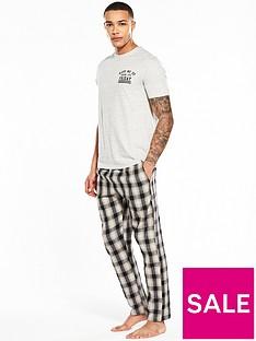 river-island-wake-me-up-check-pyjama-set