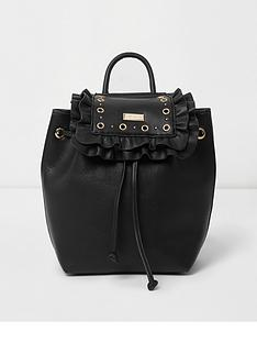 river-island-river-island-girls-eyelet-ruffle-backpack