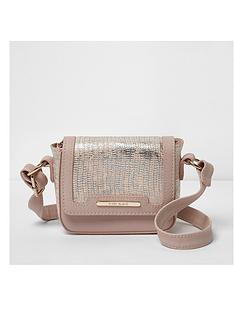 river-island-river-island-girls-pink-snake-embossed-crossbody-bag