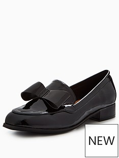 v-by-very-sandy-wide-fit-bow-loafer-black