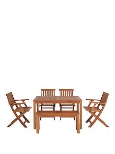 lingfieldnbspwood-outdoor-dining-set-with-picnic-bench-and-chairs