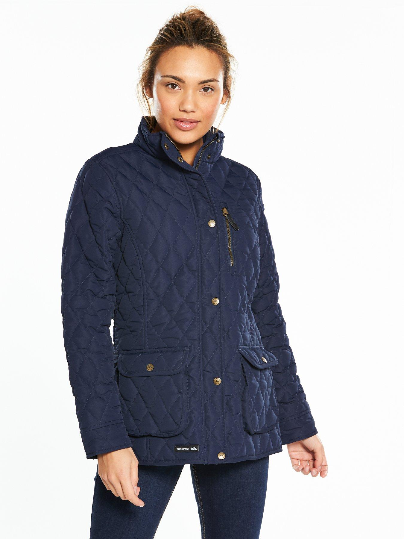 Trespass Bronwyn Quilted Jacket - Navy