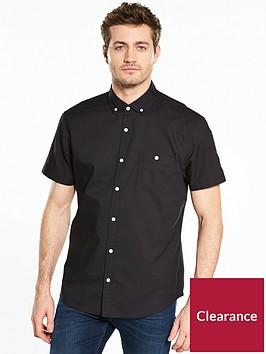 v-by-very-short-sleeve-oxford-shirt-blacknbsp