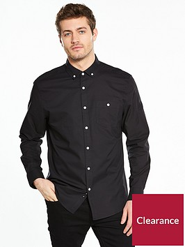 v-by-very-long-sleeve-oxford-shirt-black