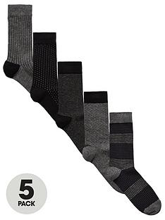 v-by-very-5-pk-tonal-patterned-socks