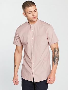 selected-homme-selected-homme-ss-grandad-collar-crisp-shirt