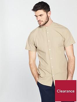 selected-homme-short-sleevenbspgrandad-collar-crisp-shirt