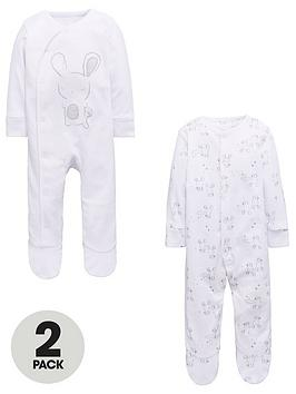 mini-v-by-very-unisex-2-pack-rabbit-sleepsuits
