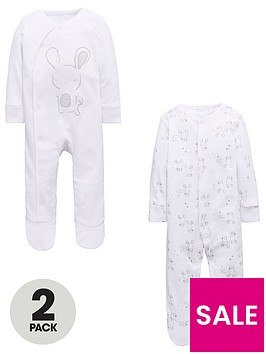 mini-v-by-very-unisex-2-pack-rabbit-sleepsuits