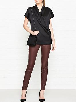 reiss-iona-draped-wrap-top-black