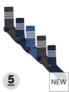 v-by-very-5-pk-blue-striped-socks