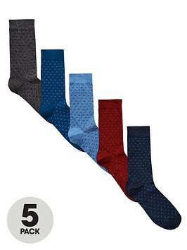 v-by-very-5pk-geo-marl-socks