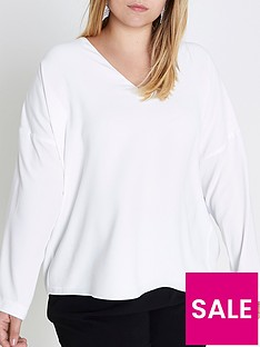 ri-plus-lace-up-back-top--ivory