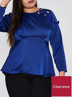 ri-plus-ri-plus-eyelet-tie-tunic-blouse--cobalt-blue