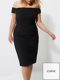 ri-plus-bardot-bodycon-dress--black