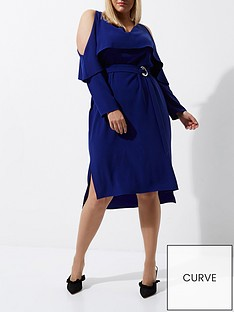 river-island-ri-plus-frill-midi-dress--cobalt-blue