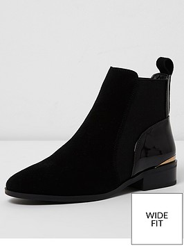 river-island-river-island-wide-fit-black-suede-ankle-boot