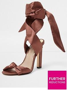 river-island-blush-satin-tie-up-sandals