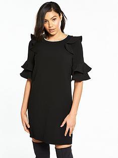river-island-pearl-swing-dress--black