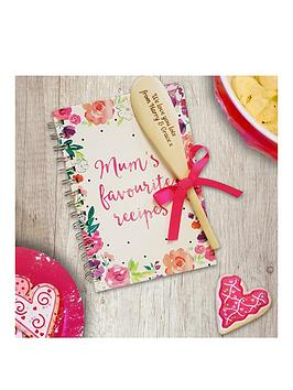 personalised-mums-fave-recipe-book-with-wooden-spoon