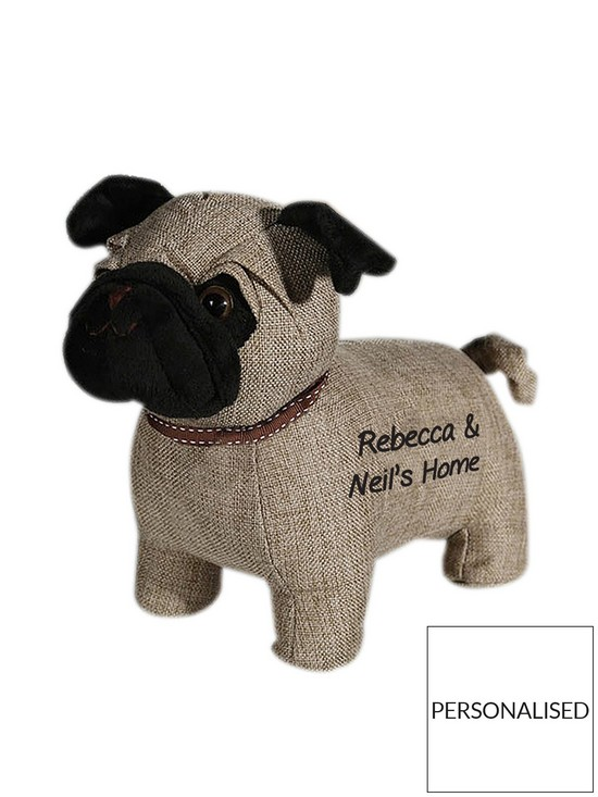 771850c7e3c5b Personalised Pug Door Stop
