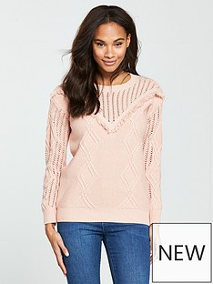 v-by-very-mesh-and-fringe-yoke-jumper-blush-pink