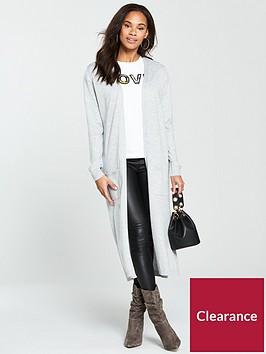 v-by-very-corset-back-maxi-cardigan-grey-marl