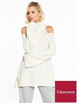 river-island-cold-shoulder-jumper--ivory