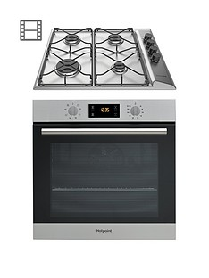 hotpoint-sa2540hixnbsp60cm-built-in-single-electric-oven-an-pan642ixh-gas-hob-with-flame-safety-device-stainless-steelinox