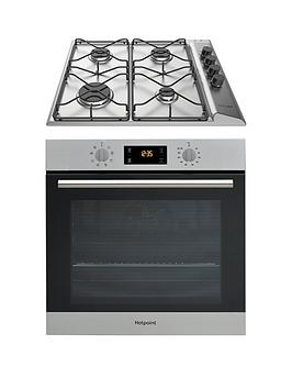 Hotpoint Sa2540Hix 60Cm Built-In Single Electric Oven An Pan642Ix/H Gas Hob With Flame Safety Device - Stainless Steel/Inox Review thumbnail