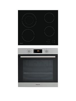 Hotpoint Sa2540Hix 60Cm Built-In Single Electric Oven And Hr612Ch Ceramic Hob - Stainless Steel/Black Review thumbnail